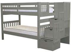 Bunk Bed Twin over Twin Stairway Gray for only $689