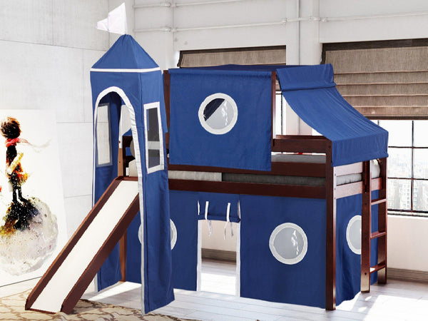 Castle Twin Loft Bed In Cherry Blue Amp White Tent 475