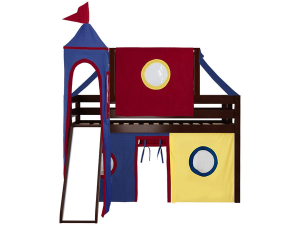 Jackpot Castle Low Loft Bed with End Ladder