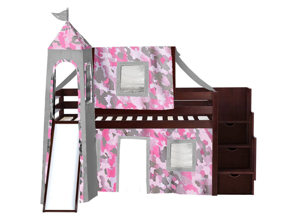 Jackpot Low Loft Bed With Slide