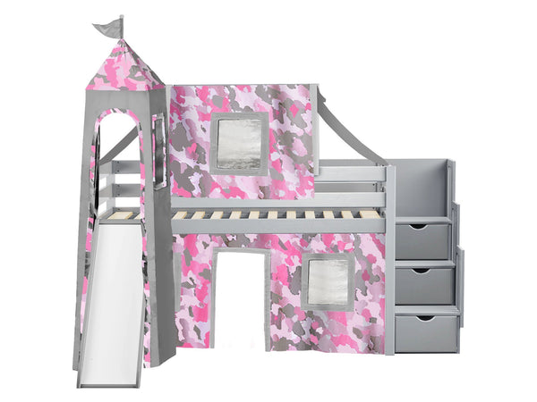 Bunks Camouflage Tent Loft Bed