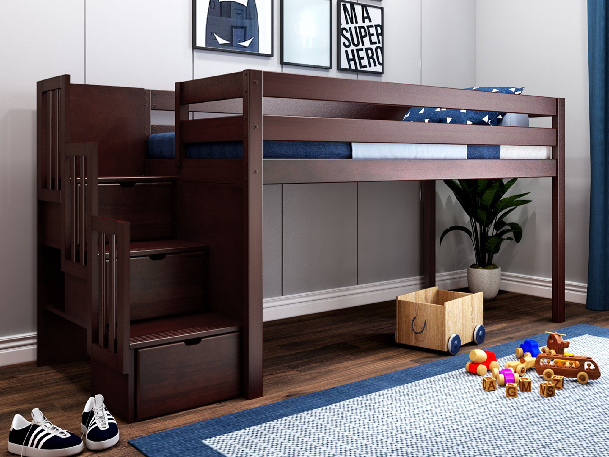 twin loft bed for adults