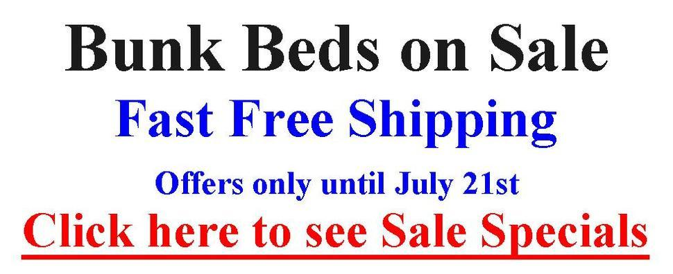 Bunk Bed Specials until January 20th