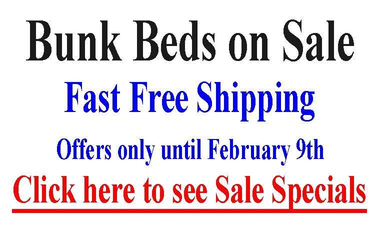 Bunk Bed Specials until August 25th