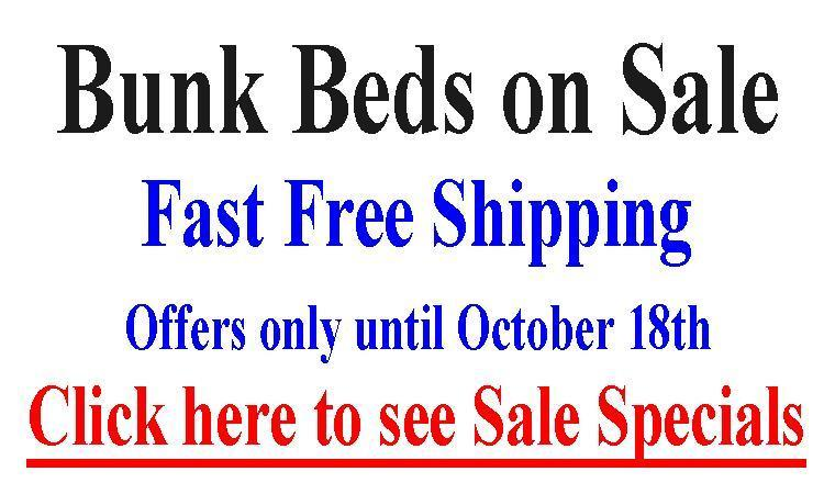 Bunk Beds on Sale until AUGUST 9th