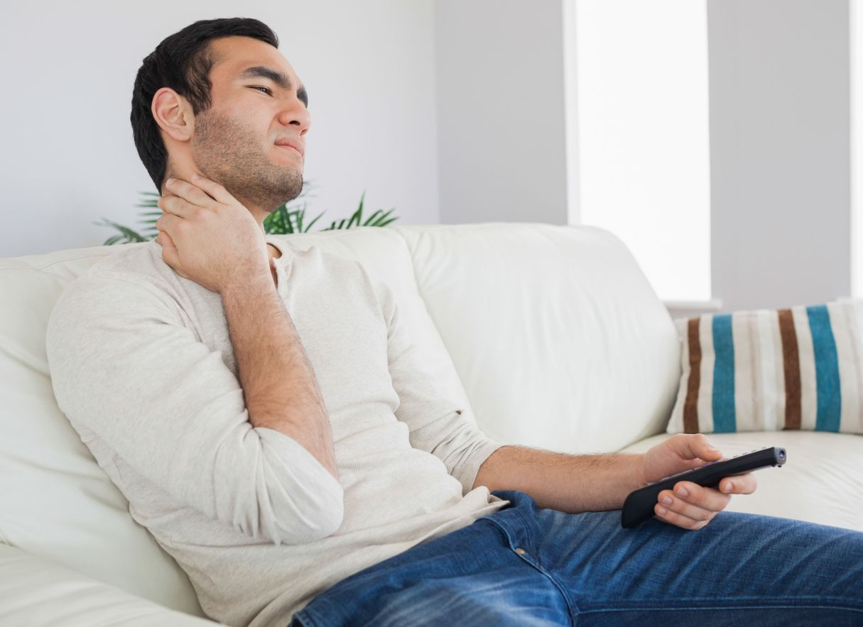 MantelMount Eye-Level TV Viewing Cures Neck Pain.