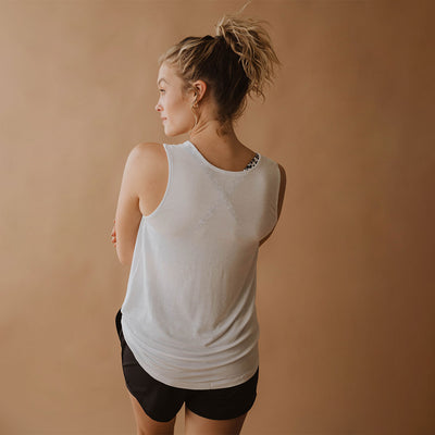 White Knot Crop Tank
