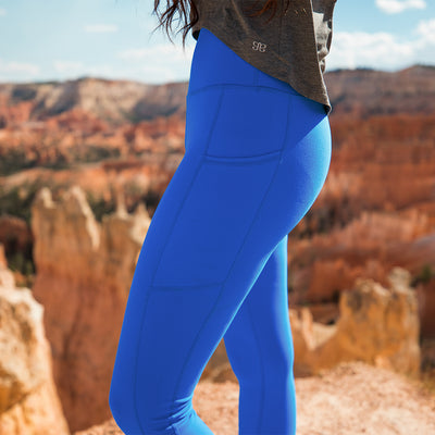 Intention Compression Leggings, Cobalt