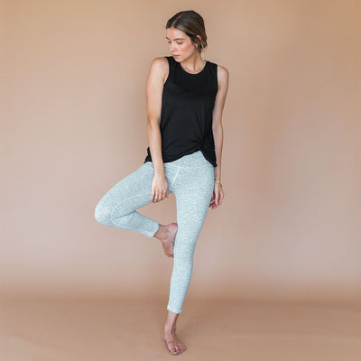 Intention Compression 3/4 Leggings, Heather Grey