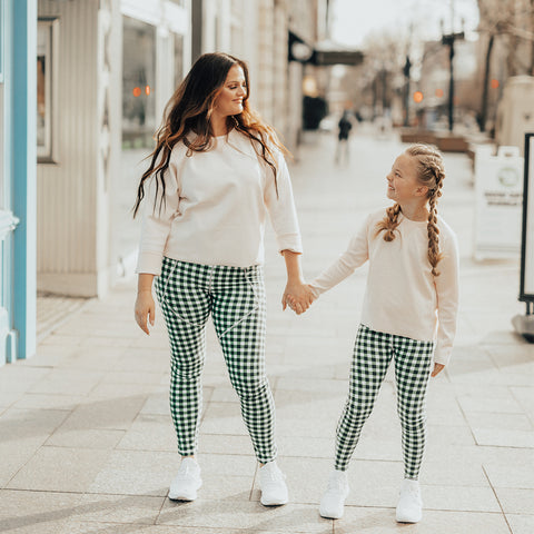 Mini Agnes Gingham Leggings
