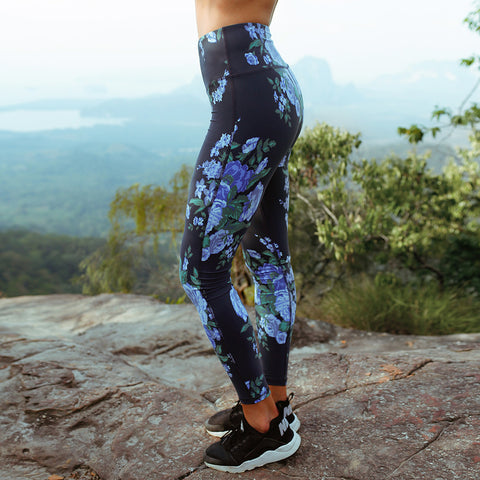 High-Waisted Antigua Cobalt Leggings