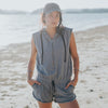 At Ease Romper, Heather Grey
