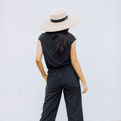 Black Crop Jumpsuit