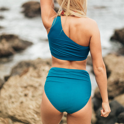 Groove High-Waisted Bottoms, Ocean