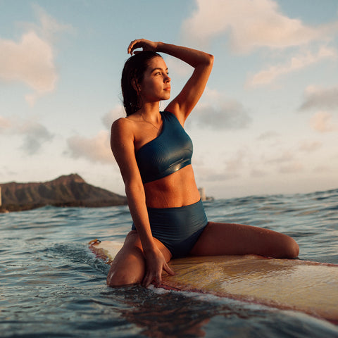 Groove Icon Swim Crop, Ocean