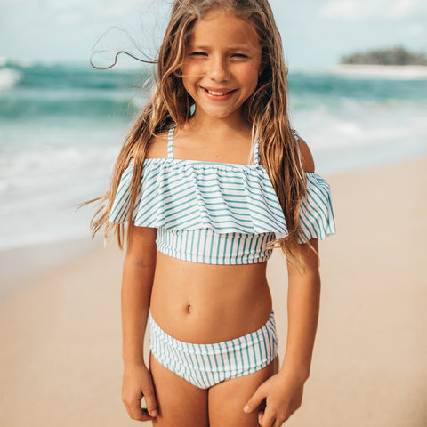 Mini Wave Two-Piece Set, Breezy Stripe