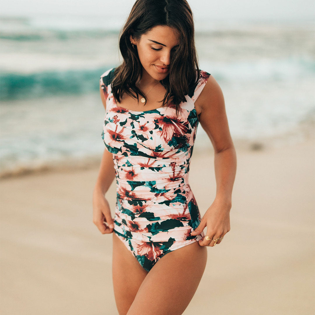 5b5556bd7 The Bronte Off Shoulder One-Piece Swimsuit - Albion