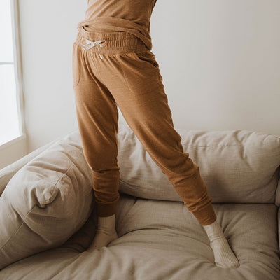 Cabin Fever Joggers, Heather Camel