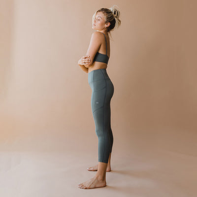 Intention Flow 3/4 Leggings, Charcoal