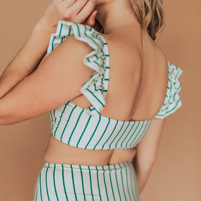 Coast to Coast Stripe Bella Crop Top