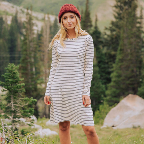 Pencil Stripe Long Sleeve Dress