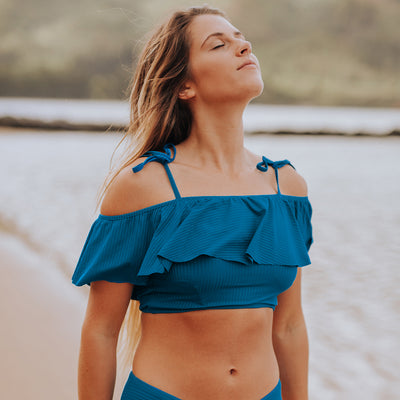 Groove Wave Crop Top, Ocean