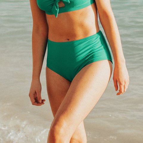 Groove High-Waisted Bottoms, Emerald