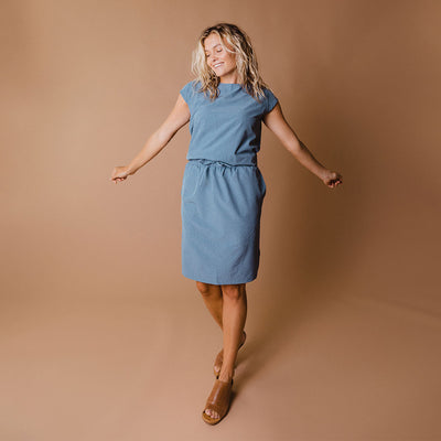 Light Chambray Going Places Dress