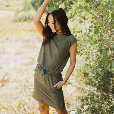 Heather Green Going Places Dress