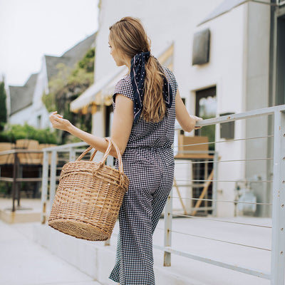 Black Check Crop Jumpsuit