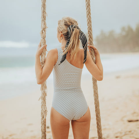 Breezy Stripe Icon One-Piece