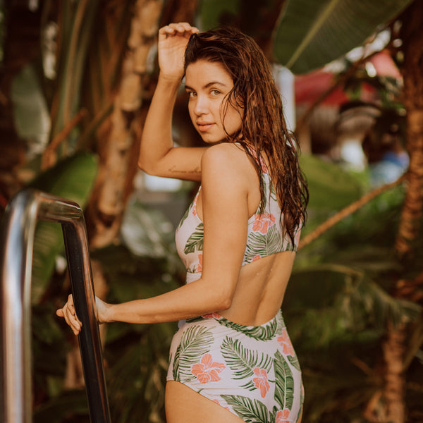 Aloha Top Knot One-Piece