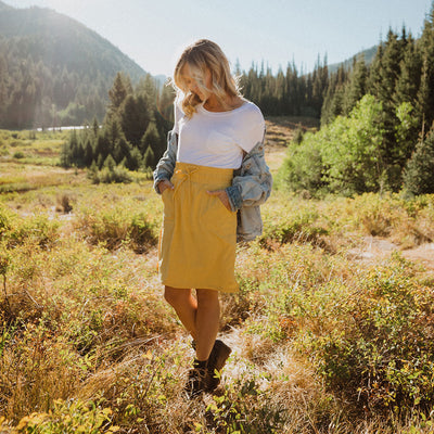 The Away Skirt, Mustard