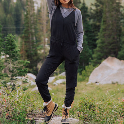 Women's Black Overall Jumpsuit