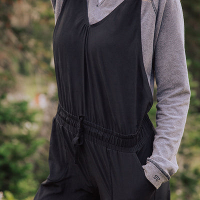 Ladies Black Overall Jumpsuit