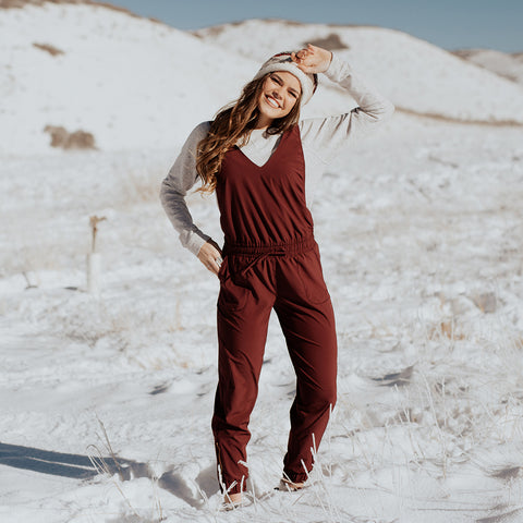 Albion Wine Overall Jumpsuit
