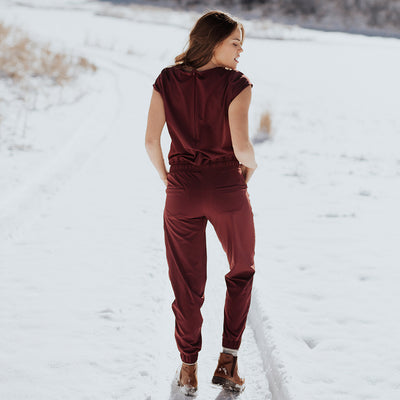 Jumpsuit in Wine for Women