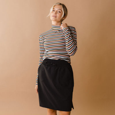 Long Sleeve Turtleneck, Sunset Stripe