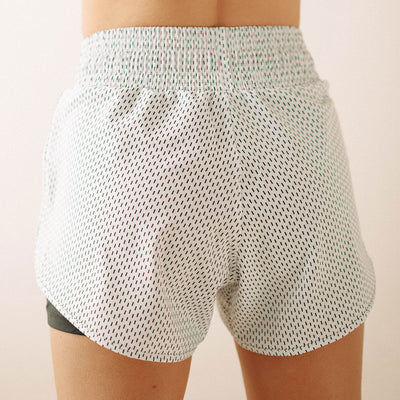 White Dash Lunge Shorts