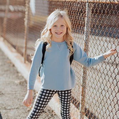 Mini Blue Neo Crop Top Kids