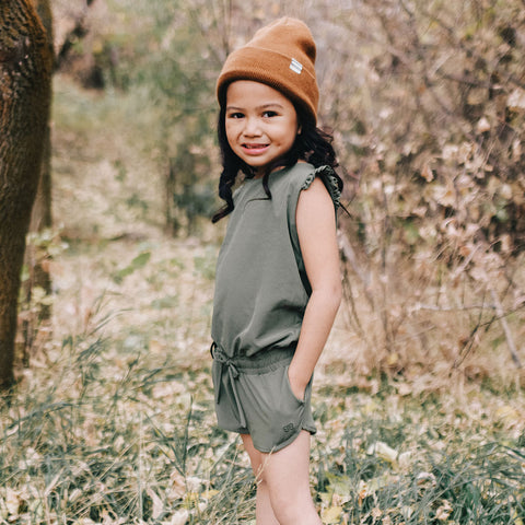 Mini Sage Romper Kids