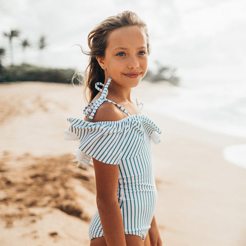 Mini Wave One-Piece, Breezy Stripe