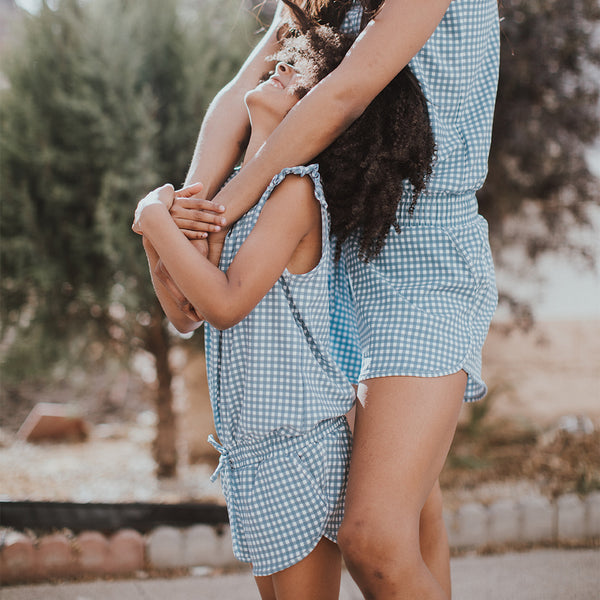 Mini Dusk Check Romper