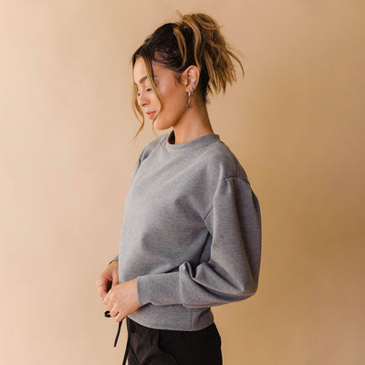 Puff Sleeve, Neo Crop, Grey
