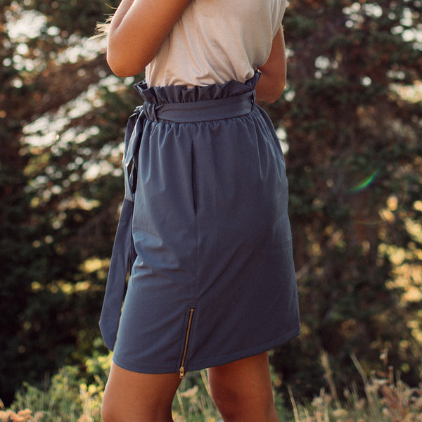 Indigo Bow Skirt
