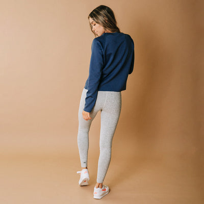 Navy Neo Crop Sweatshirt