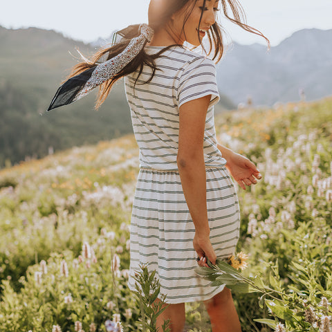 Alta Navy Striped Dress