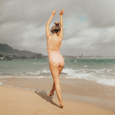 Pink Dottie Classic One-Piece