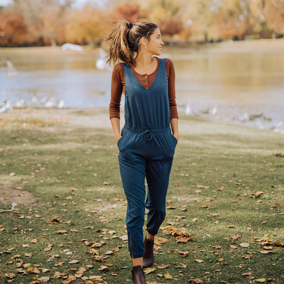 Navy Overall Jumpsuit from Albion