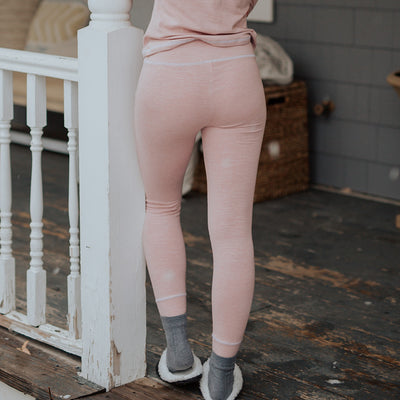 Pink Pajama Tights Bottoms for Women